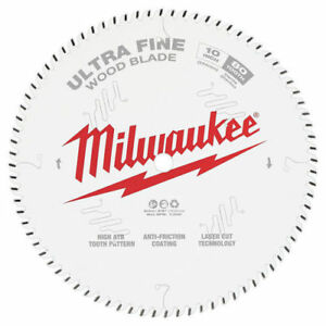 Milwaukee 48 40 1032 10 In 80t Ultra Fine Finish Circular Saw Blade New