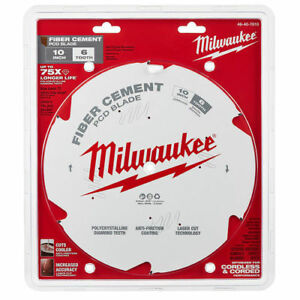 Milwaukee 48 40 7010 10 In Pcd fiber Cement Circular Saw Blade New