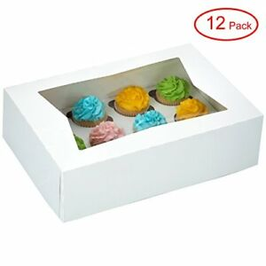 Window Bakery Cupcake Box With Insert 14 X 10 X 4 Fits 12 Standard Size And