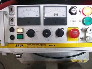 Baur 80 Kvdc avo megger model Pgk 80 High Voltage Tester