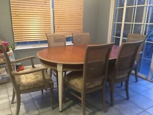 Brandt Genoa Table And 6 Ethan Allen Chairs