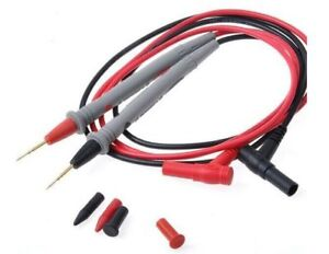 2pc Test Lead For Fluke Extech Multimeter Tester Lead Probe Electronic Needle Us