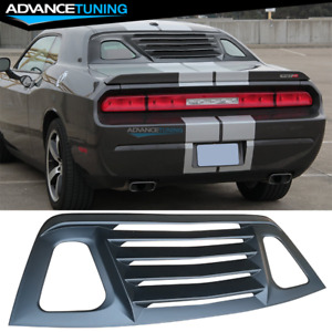 Fits 08 17 Dodge Challenger Rear Window Louver Unpainted Black Cover Abs