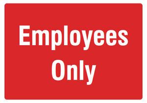 Employees Only Red Sign Large Door Front Office Notice Sign 2 Pack 12x18