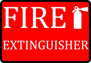 Fire Extinguisher Notice Sign Large Safety Signs 2 Pack 12x18