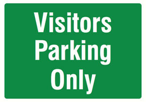 Visitors Parking Only Green Large Parking Lot Guest Signs Plastic 4 Pack 12x18