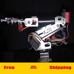 Metal 6axis Mechanical Robot Arm Digital Servo Motor For Arduino Clamp Raspberry