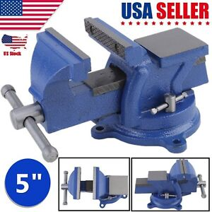 5 Heavy Duty Bench Vice 125mm Jaw Width Workshop Clamp Heavy Duty Table Vise Ou