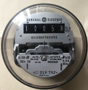 Ge Watthour Kwh Meter V 612 s Form 12s Network 5 Lugs 2 Stator Ez Read