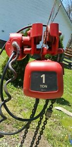 Dayton 1 Ton Electric Chain Hoist With Motorized Trolley