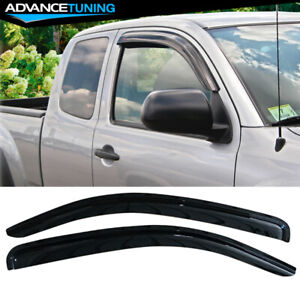 Fits 05 15 Toyota Tacoma Access Cab Acrylic Window Visors 2pc