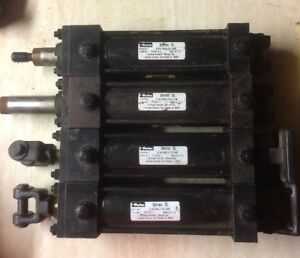 Lot Of 4 Parker Series 3l 1950psi Hydraulic Cylinder 02 00 X 5 000