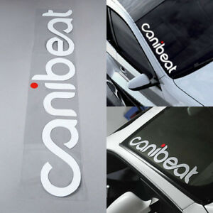 Canibeat Hellaflush Car Front Windshield Window Decal Styling Sticker Decoration