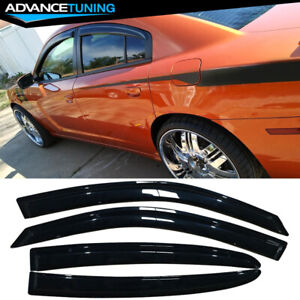Fits 11 18 Dodge Charger Acrylic Window Visors 4pc