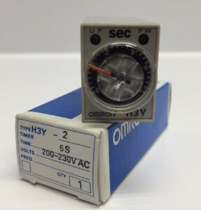 Nos Omron Timer H3y 2 200 230 Vac 5 Second Time Delay Relay Omron New H3y 2 5s