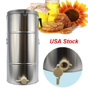 Usa Honey Extractor For Small Hobby Bee Keepers Equipment Mixer Double Frame New
