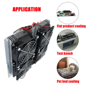 Thermoelectric Peltier Refrigeration 4 Cooler Fan Cooling System Diy Kit Dc 12v