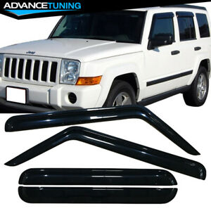 Fits 06 10 Jeep Commander Acrylic Window Visors 4pc