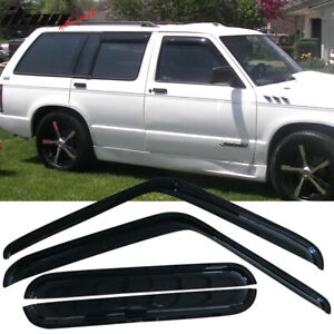 Fits 91 94 S10 Blazer Gmc S15 Jimmy Bravada Acrylic Window Visors 4pc Set