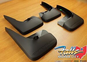 2011 2016 Chrysler Town Country Deluxe Molded Splash Guards Mud Flaps Oem