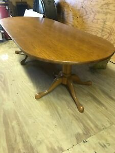 Conference Table Solid Maple 8 Ft With 2 Pedestal Legs