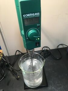 Chemglass Overhead Stirrer mixer Nice Condition Runs Great Id 300242