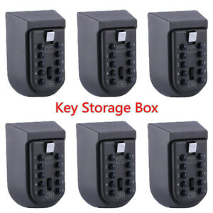 1 2 5 10 10 Digit Combination Key Lock Box Wall Mount Home Security Storage Case
