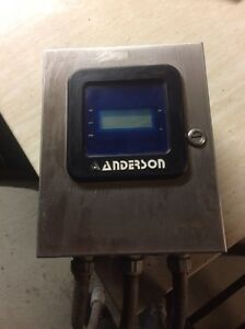 Anderson Tdl Differential Level Transmitter W Hoffman Control Panel Enclosure