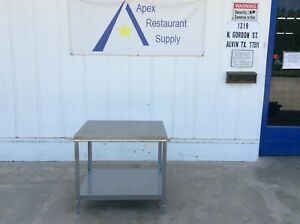 All Stainless Berkel 32 X 24 Equipment Stand Commercial 3074