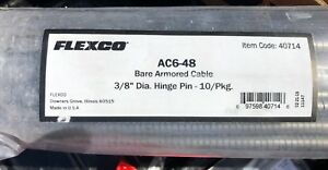 10 Pack 48 Flexco Hinge Pins Item Code 40714 3 8 Bare Armored Cable