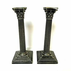 Gorham Neo Classic Doric Corinthian Column Candle Sticks Silverplate 8
