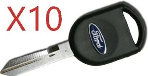 X10 Ford H84 Pt S Transponder Key Chip 4d63 With Blue Logo Top Quality