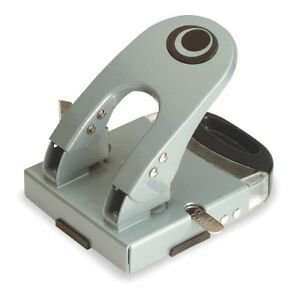 Officemate Two hole Paper Punch Silver 90101 New In Box 50 Sheet Capacity
