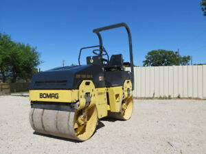 2005 Bomag Bw 100 Ad 3 Compactor Vibratory Tandem Roller Smooth Drum Water Spray
