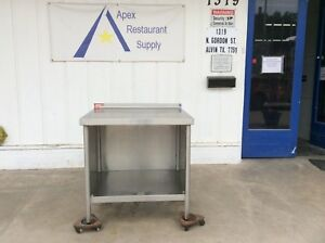 All Stainless 36 Work prep Table W cabinet backsplash Guard 3082