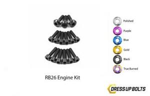 Black Dress Up Bolt Kit For 1989 1994 Nissan Skyline R32 Gtr Rb26 Partial Engine