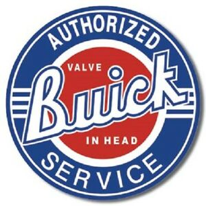 Buick Service 12 Round Vintage Style Metal Signs Oil Gas Pump Garage Man Cave