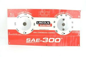 Lincoln Sae 300 Nameplate l15885 Codes 11645 11916 12090 damaged Bwa1045