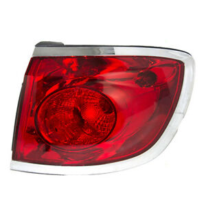 08 12 Buick Enclave Passengers Taillight Assembly