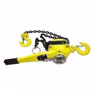 3 Ton Hand Lever Chain Block Hoist Come A Long Ratchet Winch Lift Ratcheting