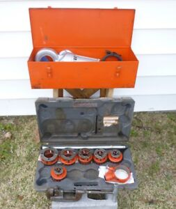 Ridgid 700 Pony case And Dies ridgid 12r Die Set And Case cutter threader 12 Die