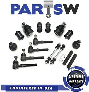 14 Pc Suspension Steering Kit For Lincoln Ford 4wd Models Only Tie Rod Ends