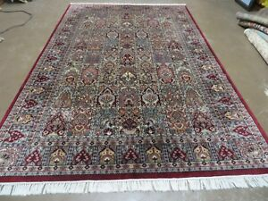 6 X 9 Vintage Fine Hand Made Persian Kashan Qum Wool Rug Panel Design Nice