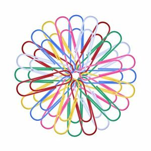 Outus 4 Inch Large Colored Paper Clips Metal Paper Clips 6 Color 24 Pieces