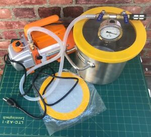 2 Gallon Vacuum Chamber And 2 5cfm Single Stage Pump Degassing Silicone Kit