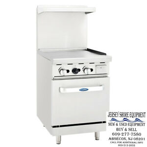 Atosa Ato 24g 24 Gas Range 24 Wide Griddle With One 20 Oven