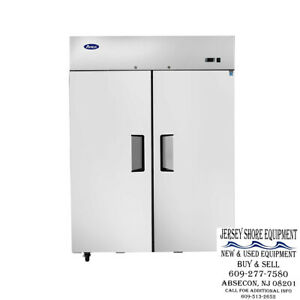 Atosa Mbf8005 Upright Stainless Two 2 door Refridgerator top Mount warranty