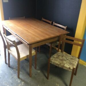 Danish Modern Teak Table And Six Chairs Svegards Markaryd