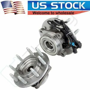 2 For Chevy Silverado Gmc Sierra 1500 2500 Hd Front Wheel Bearing Hub Assembly