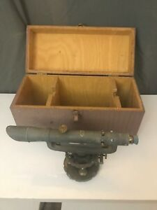 Vintage David White Transit Level Plum Survey In Wood Case Sold As Is